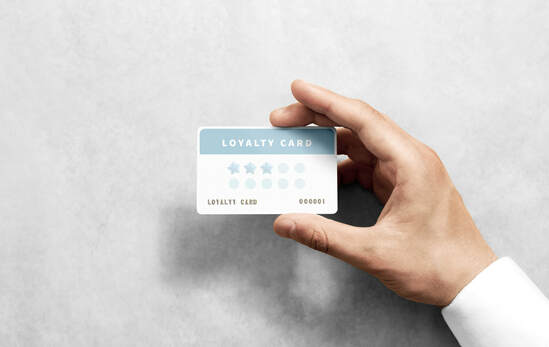 Hand hold discount card template with rounded corners